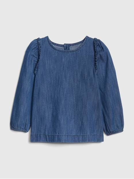 Toddler Ruffle Denim Top