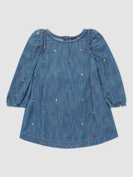 ToddlerGap Embroidered Denim Dress