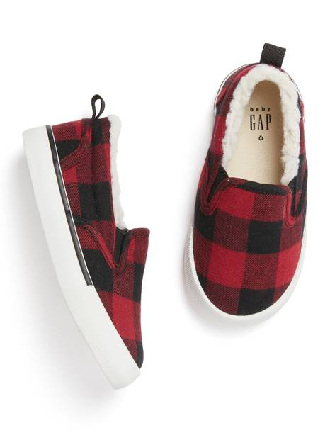 BabyGap Plaid Slip-on Sneakers