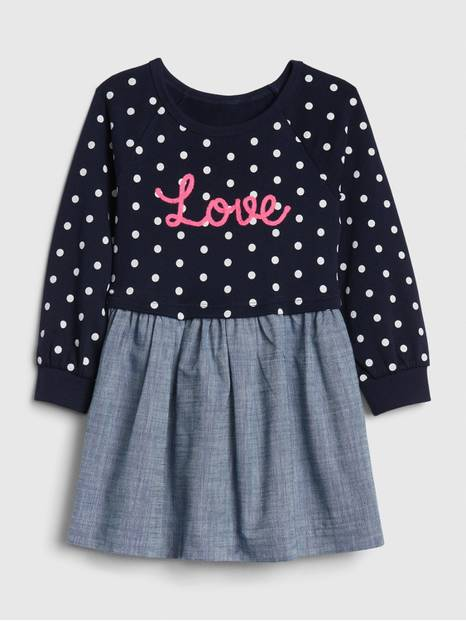 Toddler Love Mix-Media Dress