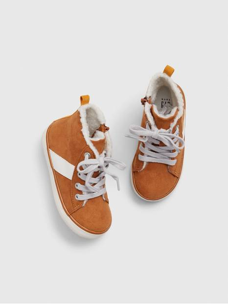 Toddler Sherpa Hi-Top Sneakers