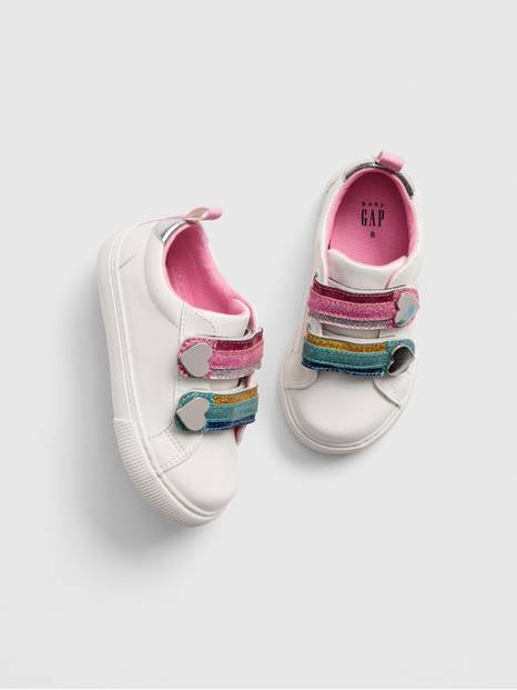 Toddler Glitter Rainbow Sneakers