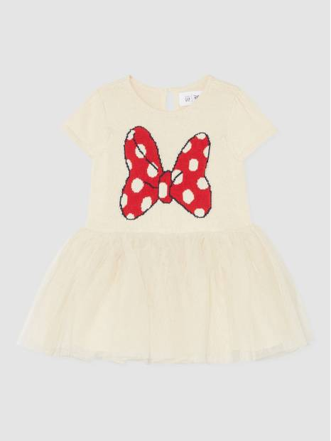 Baby Gap Disney Minnie Mouse Mix-Fabric Dress