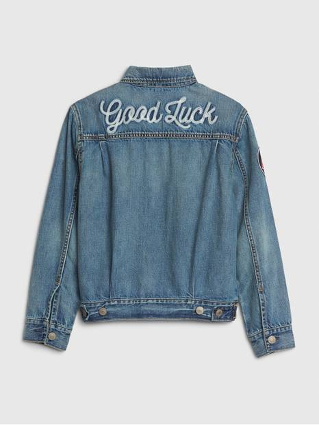 Kids Embroidered Patch Denim Jacket