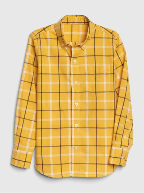 Kids Plaid Poplin Button-Down Shirt