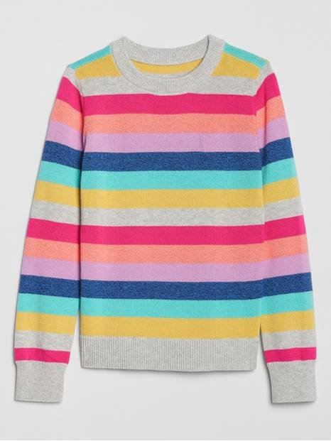 Kids Crazy Stripe Crewneck Sweater