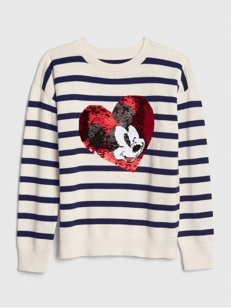 GapKids &#124 Disney Mickey Mouse Flippy Sequin Sweater