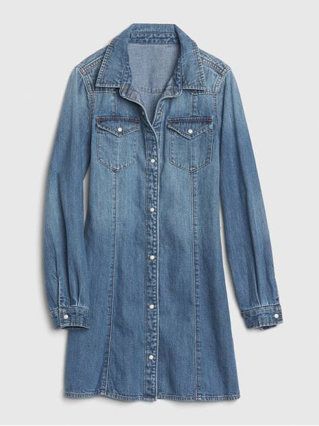 Kids Western Denim Dress