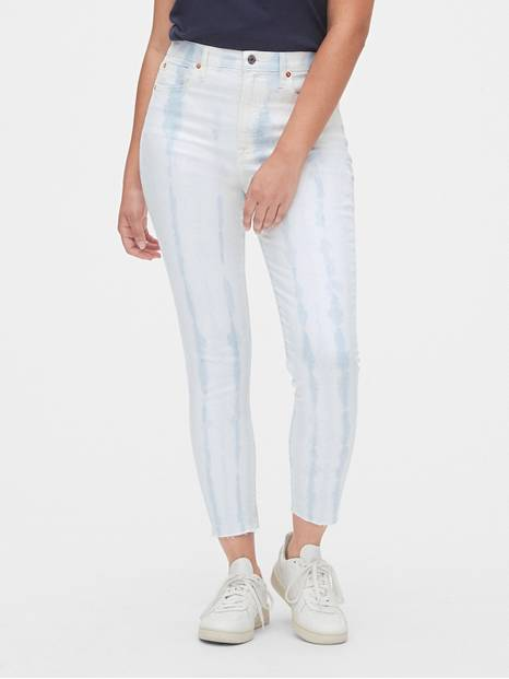 High Rise Tie-Dye True Skinny Jeans with Secret Smoothing Pockets