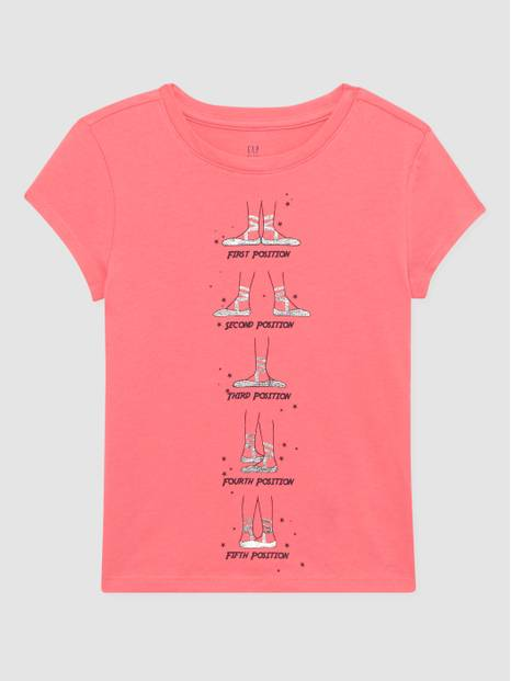 Kids Gap Graphic Printed Short Sleeve T-Shirt