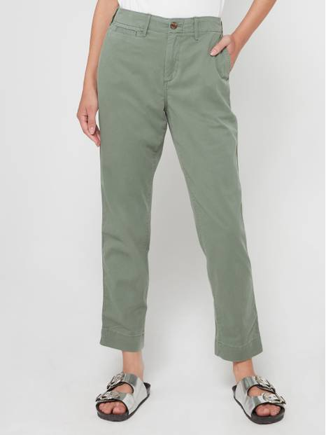 High Rise Straight Khakis