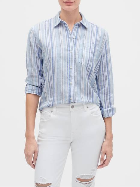 Stripe Long Sleeve Shirt