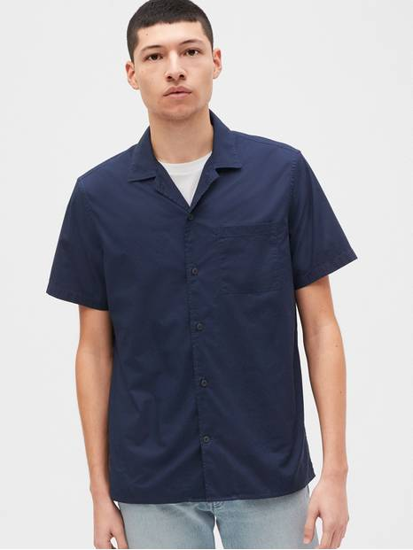Poplin Camp Short Sleeve Shirt
