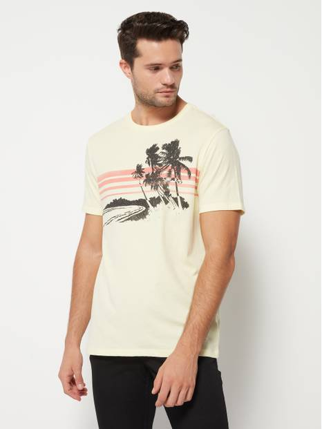 Palm Tree Stripe Graphic T-Shirt