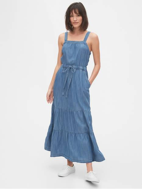 Apron Maxi Dress in TENCEL &#153