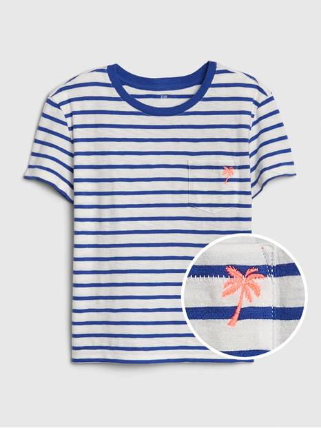 Kids Print Pocket T-Shirt