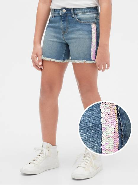 Kids Flippy Sequin Midi Shorts