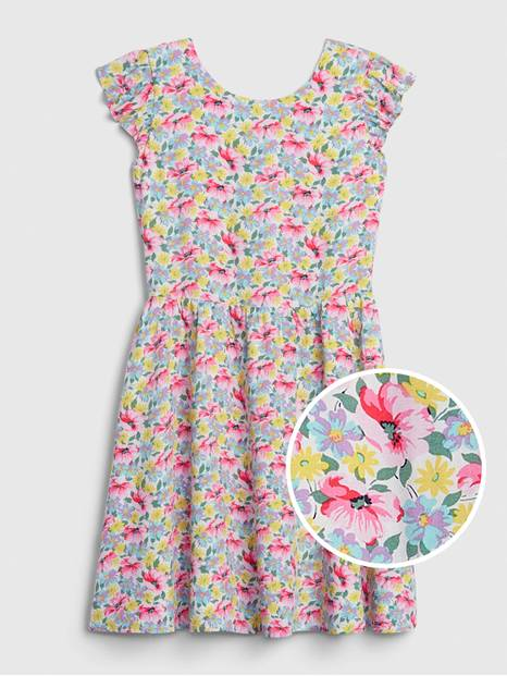 Kids Floral Fit and Flare Dress