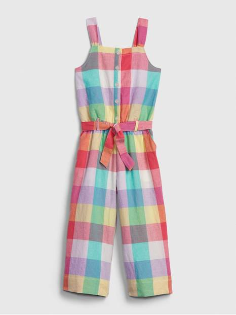 Kids Plaid Jumpsuit