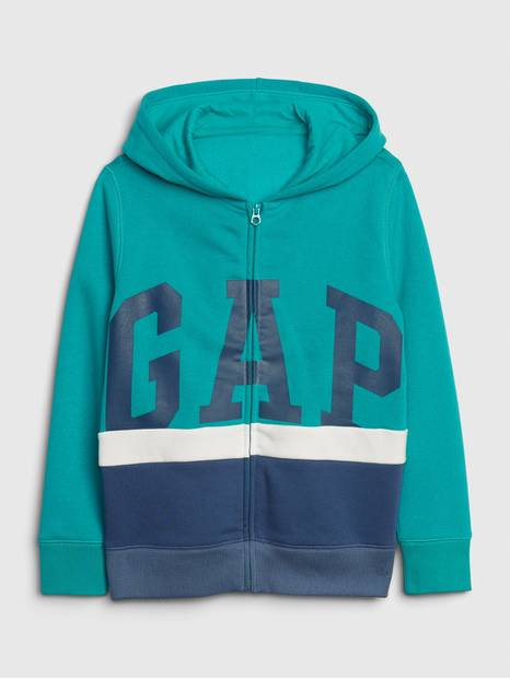 Kids Gap Logo Colorblock Hoodie Sweatshirt