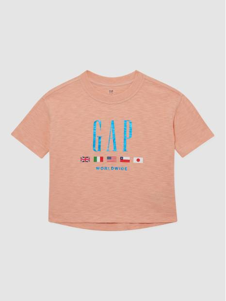 Kids Logo Flags Boxy T-Shirt