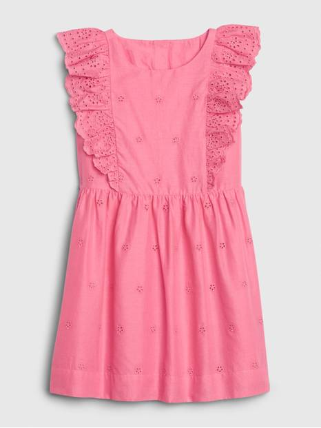 Toddler Eyelet Ruffle Dress
