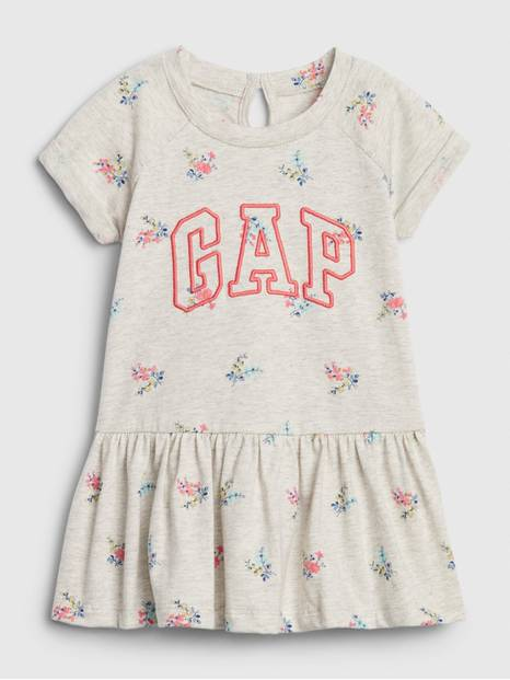 Baby Gap Logo Peplum Dress