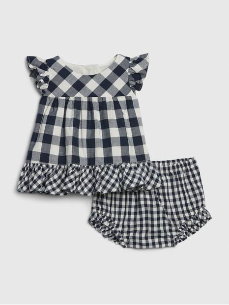 Baby Gingham Flutter Outfit Set