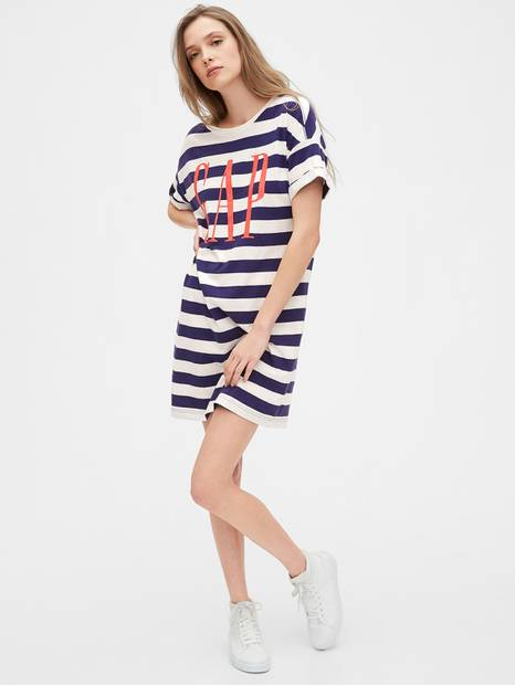 Gap Logo Short Sleeve T-Shirt Dress