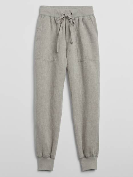 Utility Joggers in Linen
