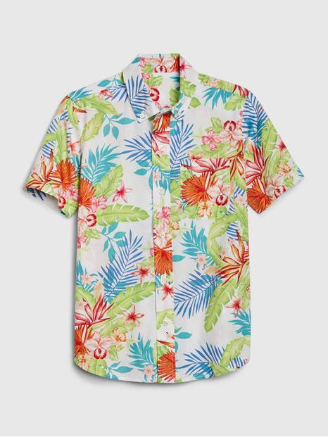 Kids Tropical Button-Down Shirt