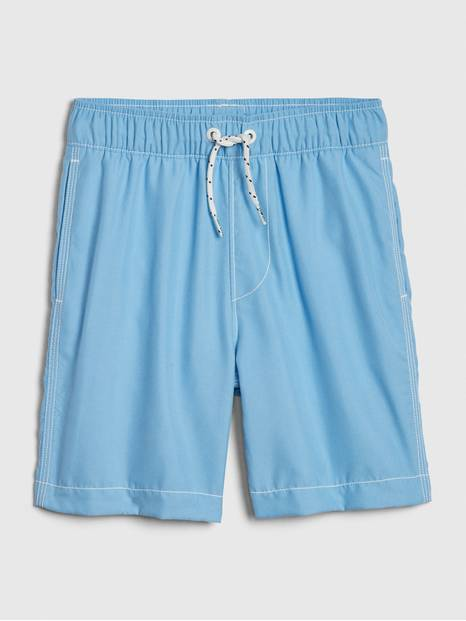 Kids Blue Swim Trunks