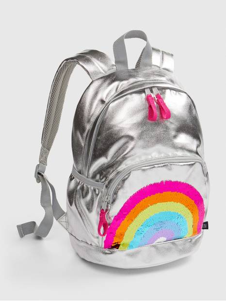 Kids Flippy Sequin Graphic Rainbow Junior Backpack