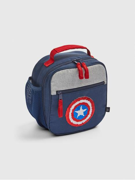 GapKids &#124 Marvel Flippy Sequin Captain America Lunchbag