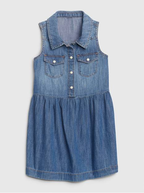 Toddler Sleeveless Denim Dress
