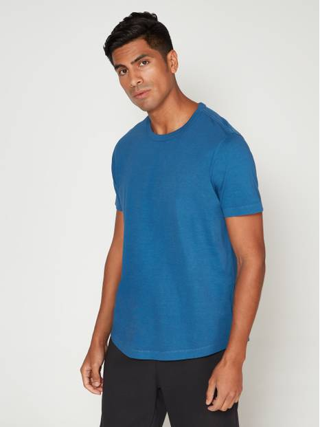 Vintage Soft Curved Hem T-shirt