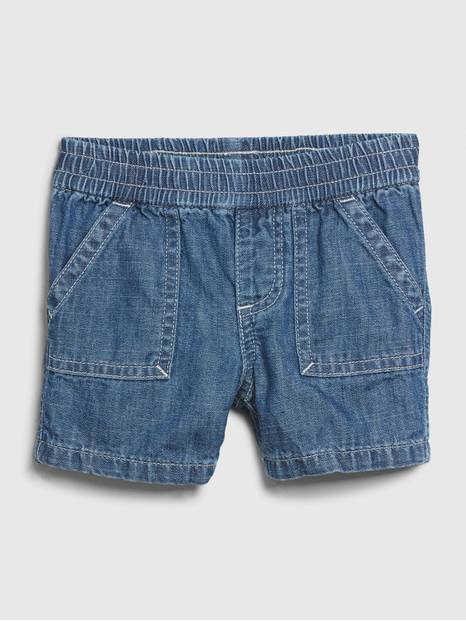 Baby Denim Cargo Shorts