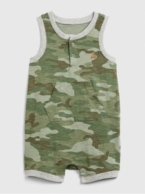Baby Camo Tank Shorty One-Piece