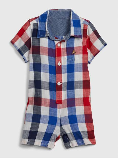 Baby Plaid Shorty One-Piece