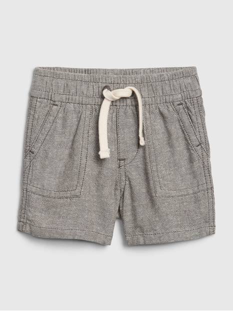 Baby Pull-On Linen Shorts