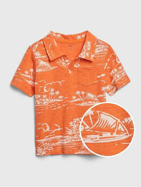 Toddler Graphic Polo Shirt