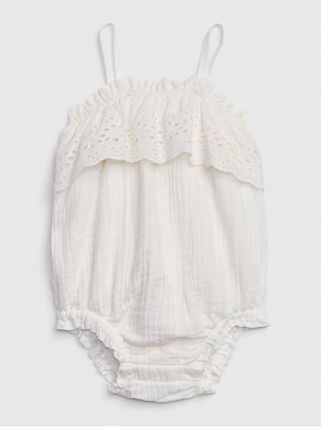 Baby Eyelet Bubble One-Piece
