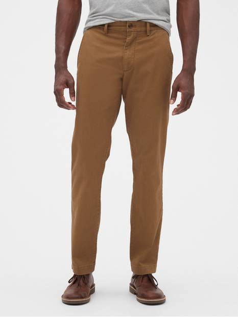 Essential Khakis in Straight Fit with GapFlex
