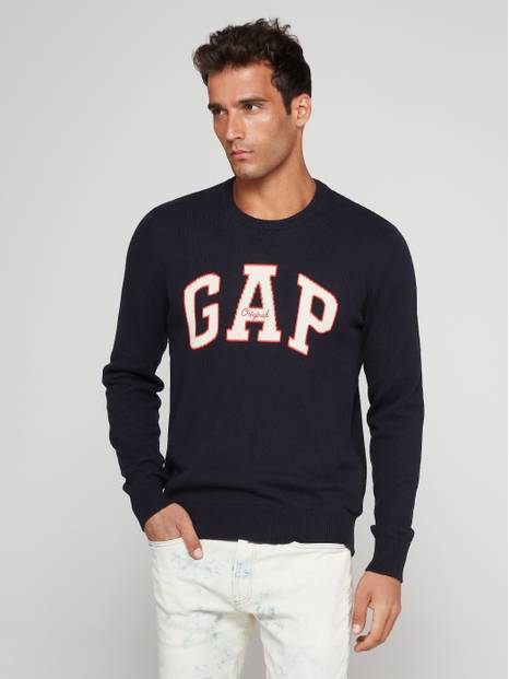 Gap Logo Intarsia Crew Neck Sweater