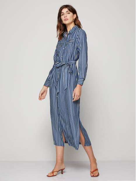 Drapey Midi Shirtdress