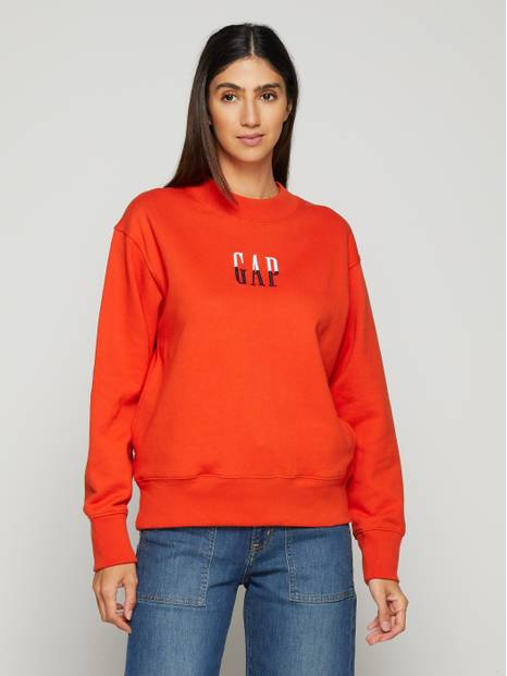Gap Logo Mock Neck Pullover