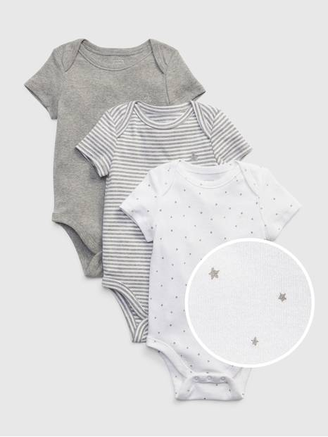 Baby First Favorite Short Sleeve Bodysuit (3-Pack)