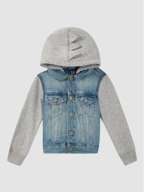 Toddler Dinosaur Denim Jacket