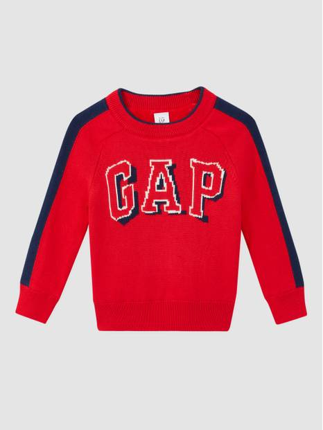 Toddler Cozy Intarsia Logo Crewneck Sweater