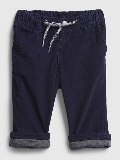Baby Cord Lined Pull-On Pants
